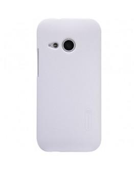 Carcasa protectie spate + folie ecran pentru HTC One Mini 2 - alba